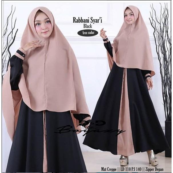 Baju Gamis Muslim Terbaru Wanita Stf Rabbani Syari Harga Grosir Shopee Indonesia