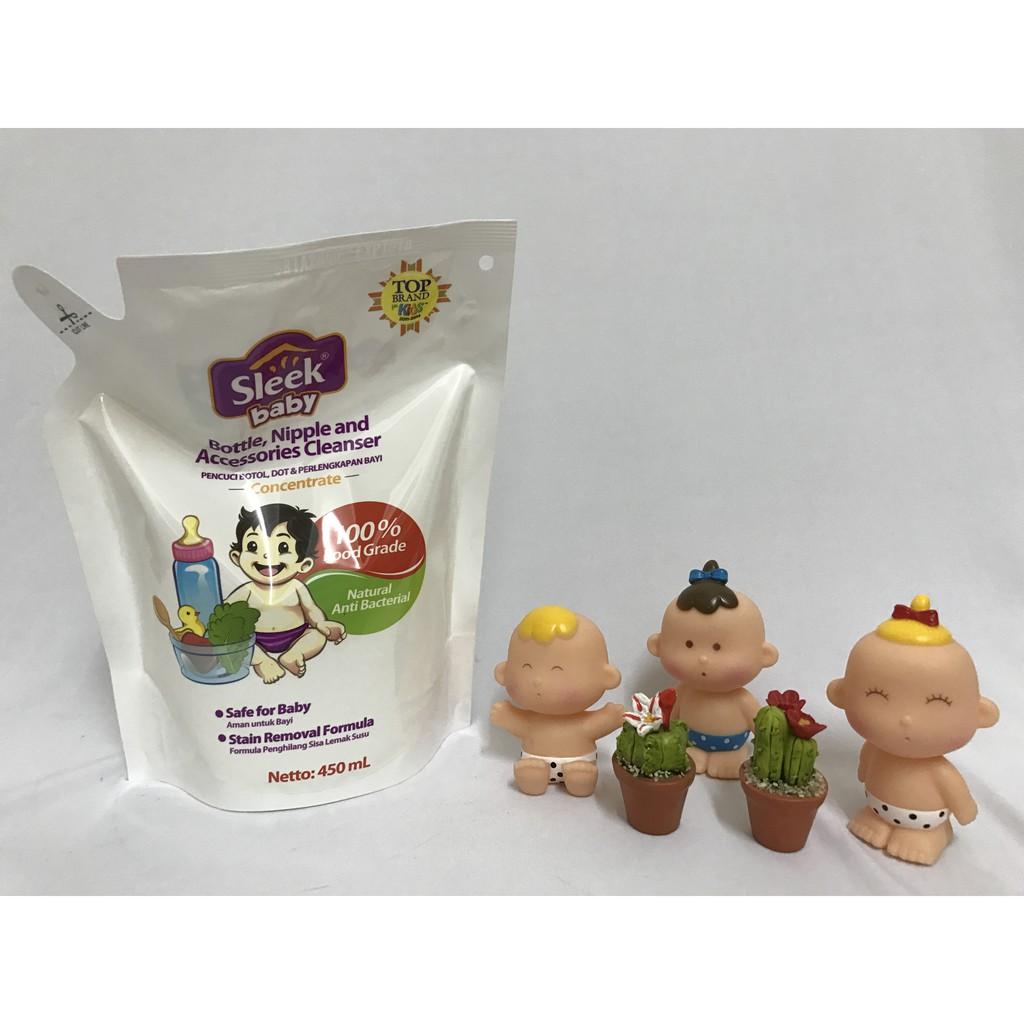Sleek Nipple Pouch 450 Ml Shopee Indonesia Cuci Botol 450ml