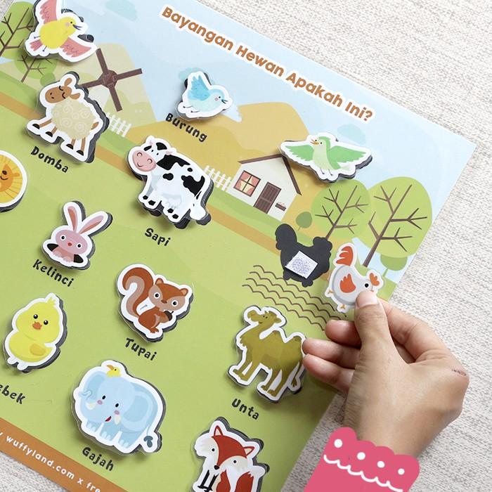 Busy Page Bayangan Hewan Dengan Magnet