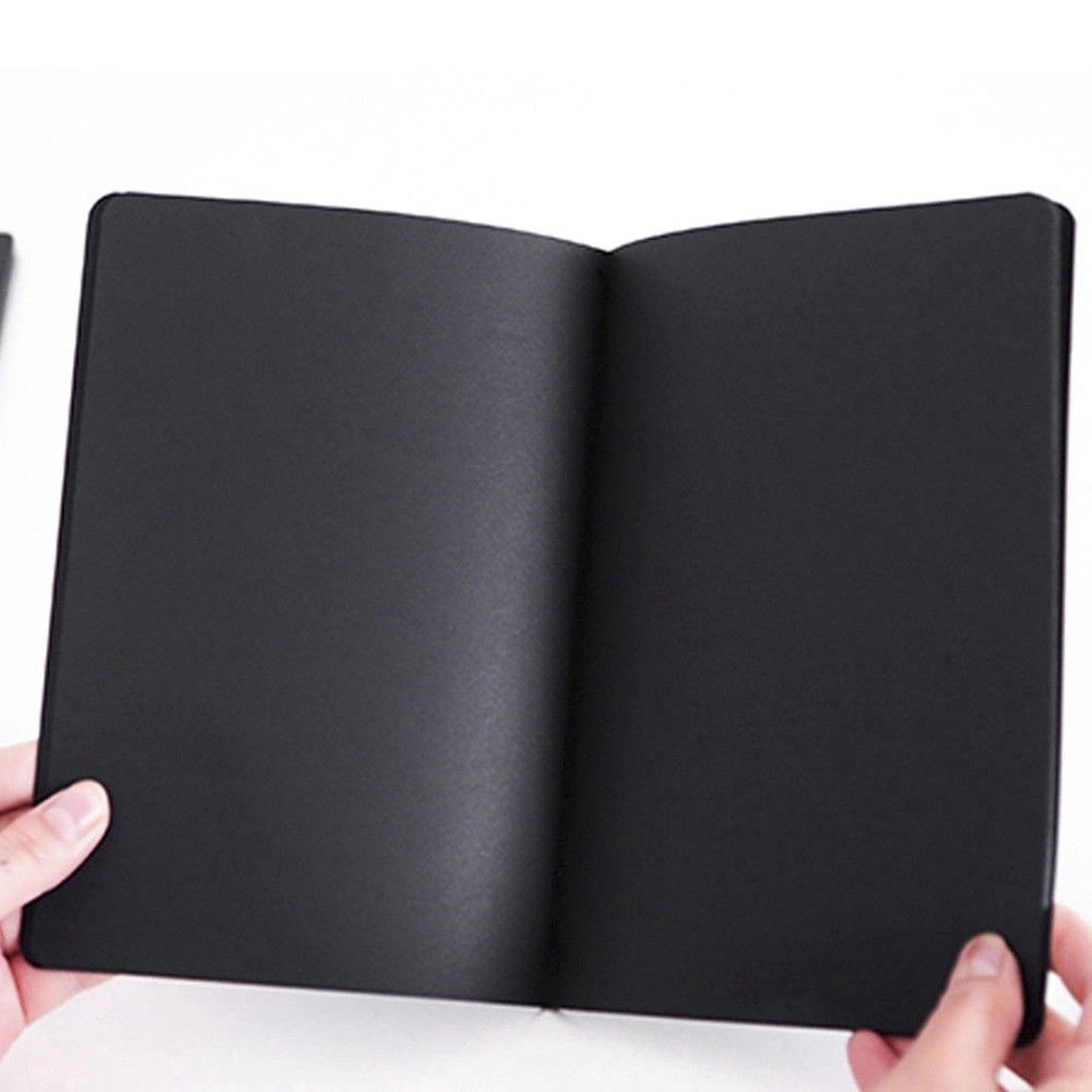 56k Black Paper Graffiti Notebook Sketch Diary Book Painting