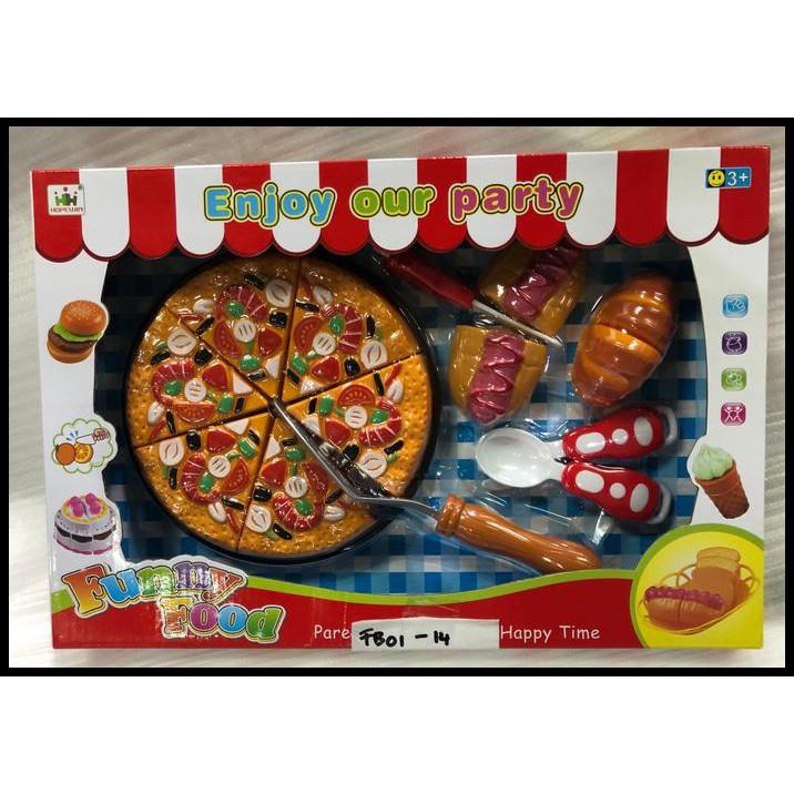 Mainan Funny Food Pizza Burger Hotdod Cutting Vegb22x Shopee Indonesia