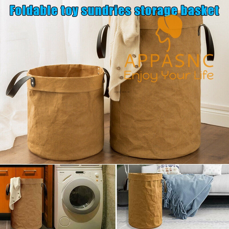 Laundry Basket Tall Round Hamper