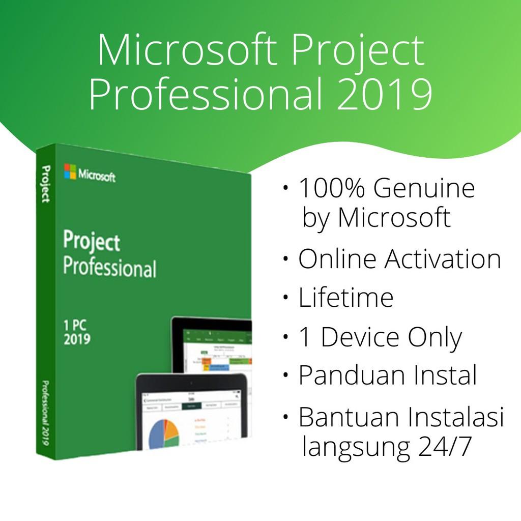 Promo Microsoft Project 2019 Original Genuine Microsoft Shopee Indonesia