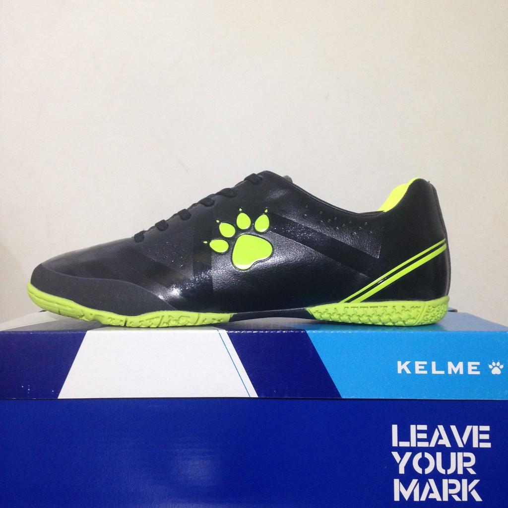 dfe4f1f1e71 Sepatu Futsal Kelme Vision Black Lime 11071586 Original BNIB. Ke Toko