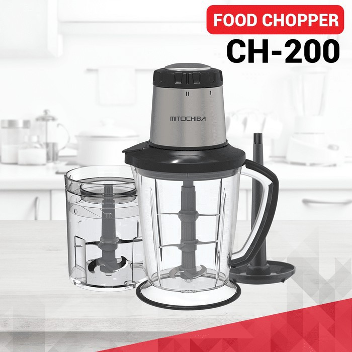 Mitochiba Food Chopper CH 200/ Penghalus Bumbu / Penggiling Daging Mitochiba / Blender Mitochiba