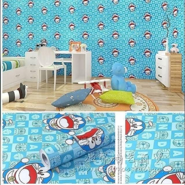 Paling Murah Wallpaper Sticker Kotak Huruf Kartun Anak Doraemon Lucu Imut 10 Meter Shopee Indonesia