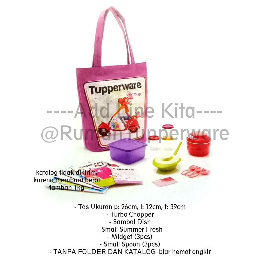 Tupperware Medium Summer Fresh New Color 2017 4pcs Shopee Indonesia Large 18l Multi Colour