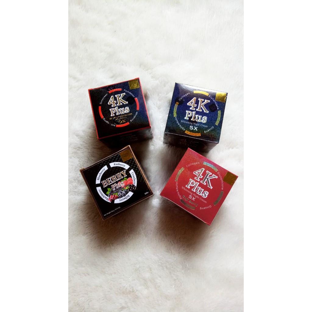 [TERMURAH] 4k Whitening Night Cream |BB Day Cream | Goji Berry |Berry Plus Travel Size 5gr Tanpa Box