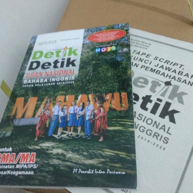 Buku Detik Detik Sma Bahasa Inggris 2019 2020 Shopee Indonesia
