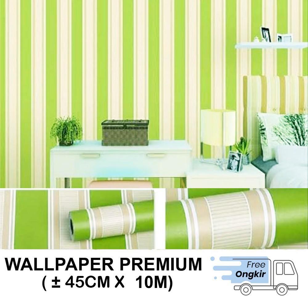 Wallpaper Dinding Stiker Motif Salur Biru Size 45cm X 10m Shopee Indonesia