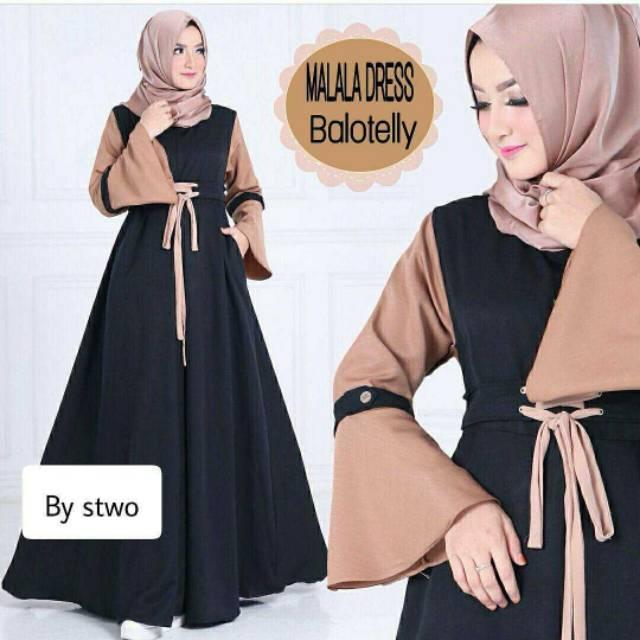 Karina kotak Dress   dress murah   gamis syari   baju muslim ... b6b11f5658