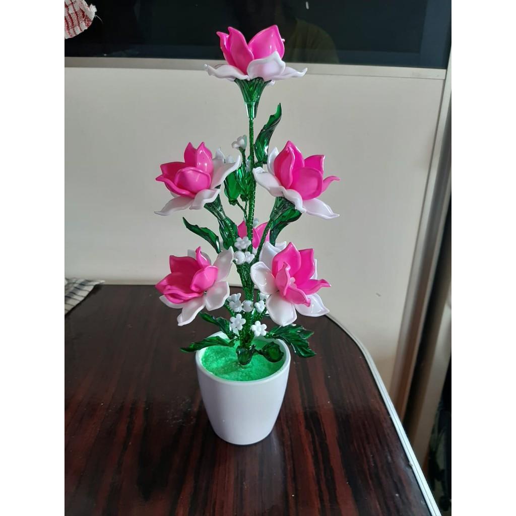 Bunga Akrilik Bunga Mawar Rose Pot Bunga Hiasan Ruang Tamu Kantor Bunga Palsu Bunga Pajangan Shopee Indonesia