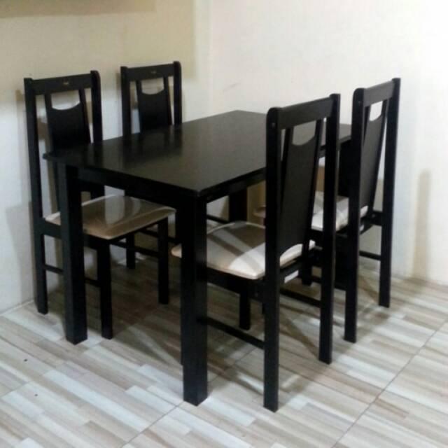 kitacucigudang meja makan kayu 4 kursi Shopee Indonesia