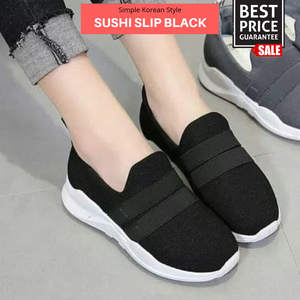 Sneakers Slip On Beanie Red Shopee Indonesia Dr Kevin Women 5313 White Black Pink Green Putih 37