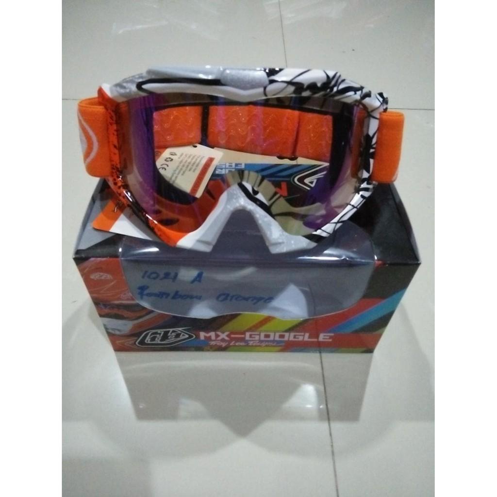Kacamata Goggle Motocross Mx36 Rainbow Google Snail M36 Motif Osbe Cross New Arrival Tld Troy Lee Designs Orange Pelangi Merah Murah