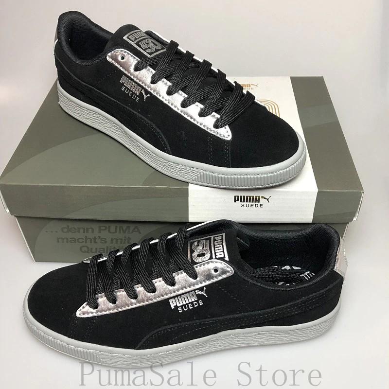 reputable site 3522b a1218 Sepatu Sneakers Desain Puma Suede 50 Classic Warna Metalik Ukuran eur35.5  -44