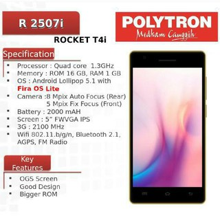 Hp Android Lollipop 5.1 Polytron T3 / R2507 (RAM 1GB+ROM 8GB) | Shopee Indonesia