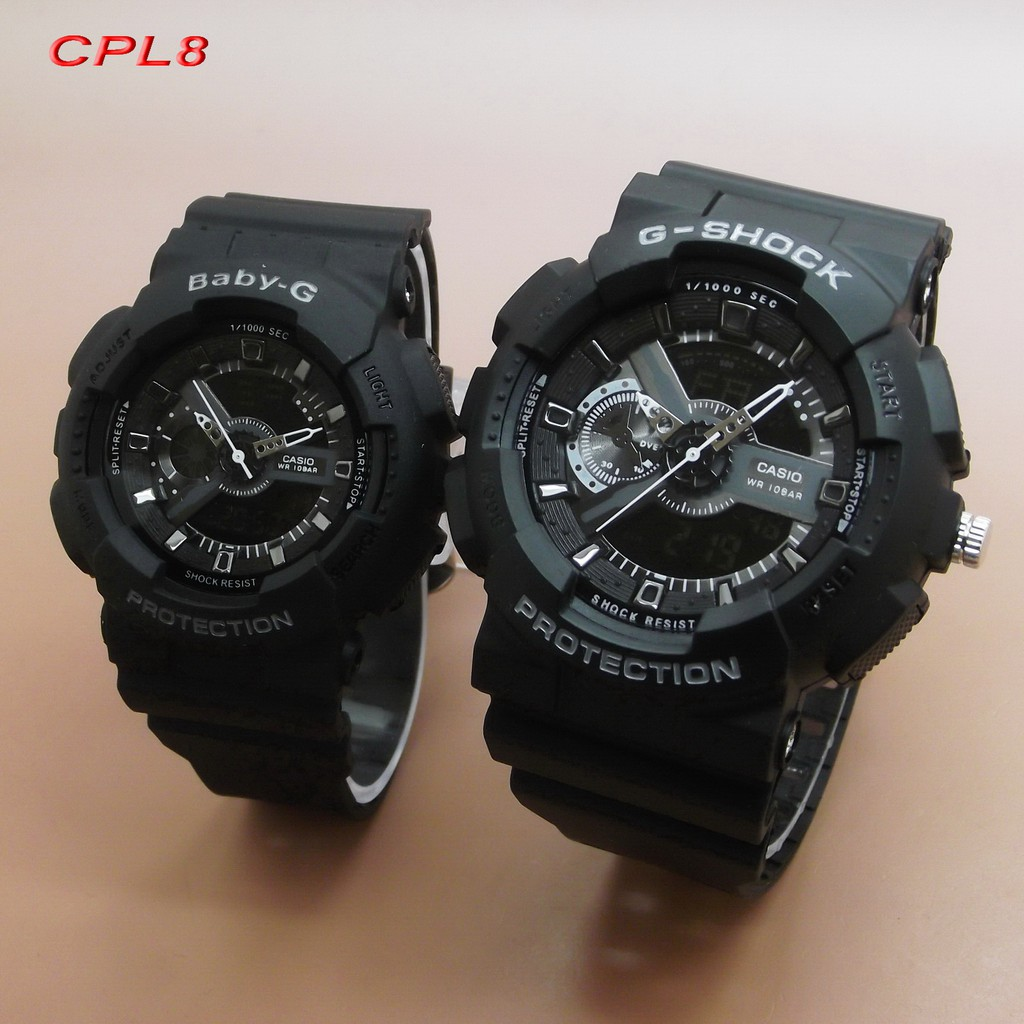 Casio G Shock Couple Ga 110 Rubber Cpl1 Cpl8 Baby Bga 150 7b Original Garansi Resmi 1 Tahun Presents Lovers Collection Lov 17a 7ajr Digital Analog Dial Shopee Indonesia