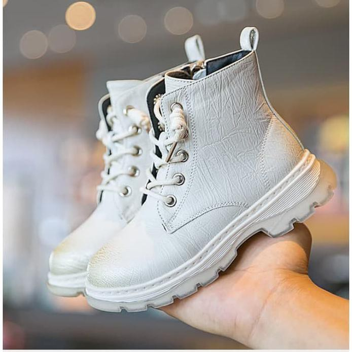 Sepatu Anak Perempuan Import Semi Boots 28 Hitam Shopee Indonesia