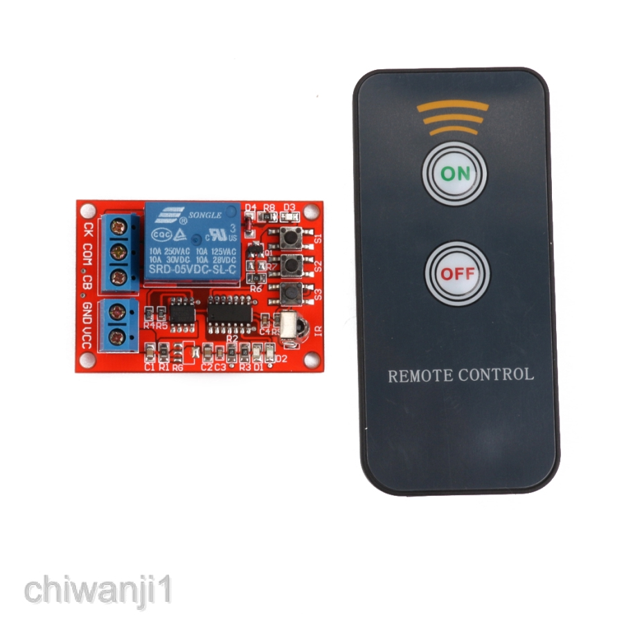 One 1CH Channel 5V LED Relay Module with IR Infrared Remote Control NEW