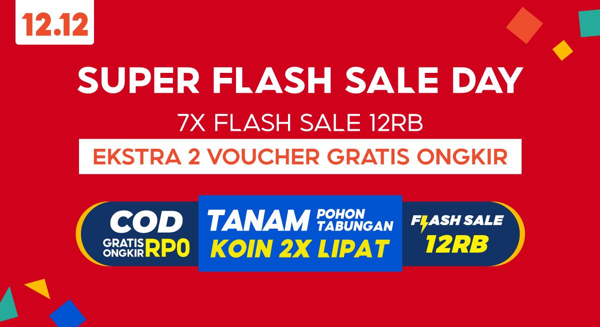 Super Flash Sale Day Shopee 12 12 Birthday Sale