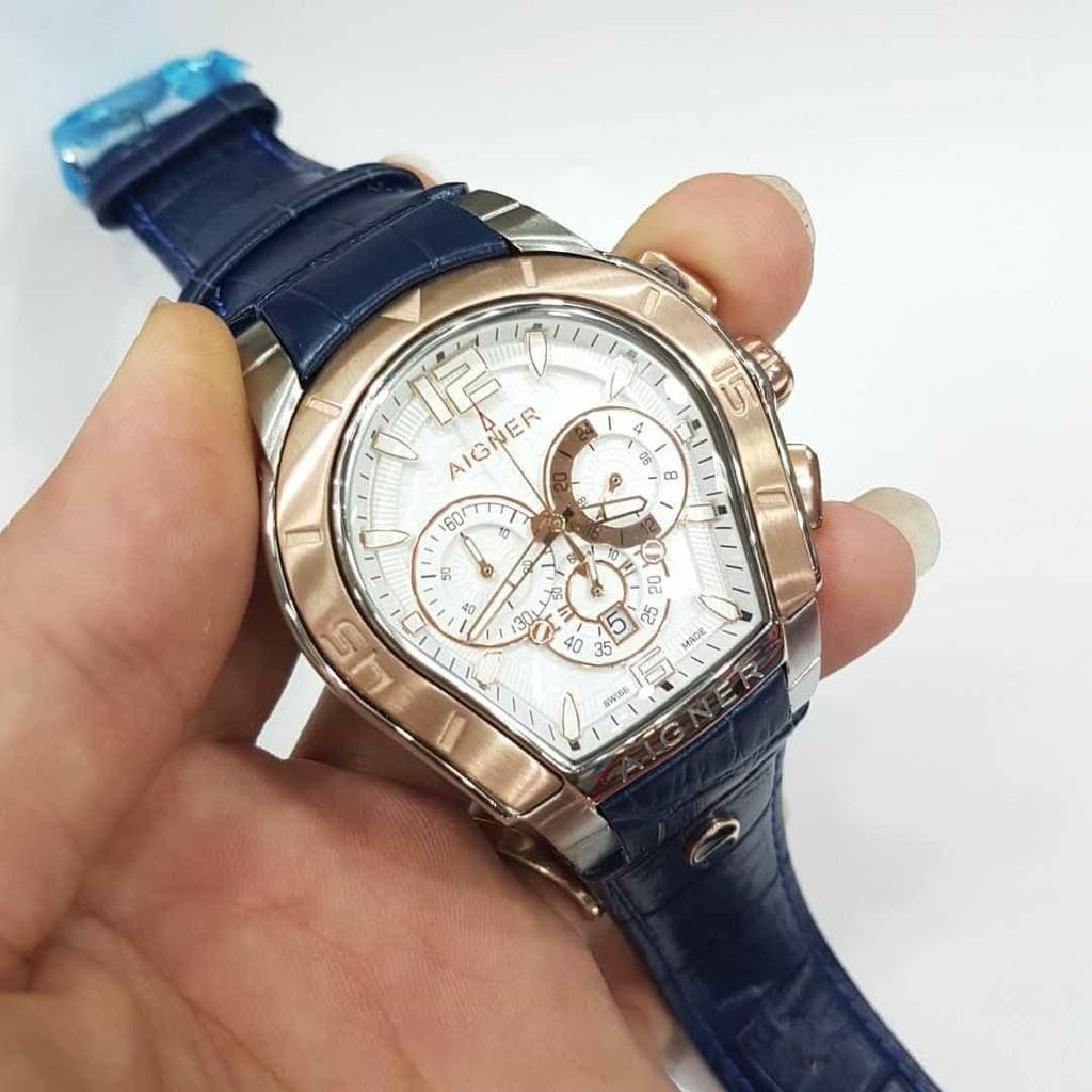 Aigner Jam Tangan Wanita Quality Super Model Elegant Casua Leather A19250 Capri Iii Merah Gold Pria Palermo Premium Watch