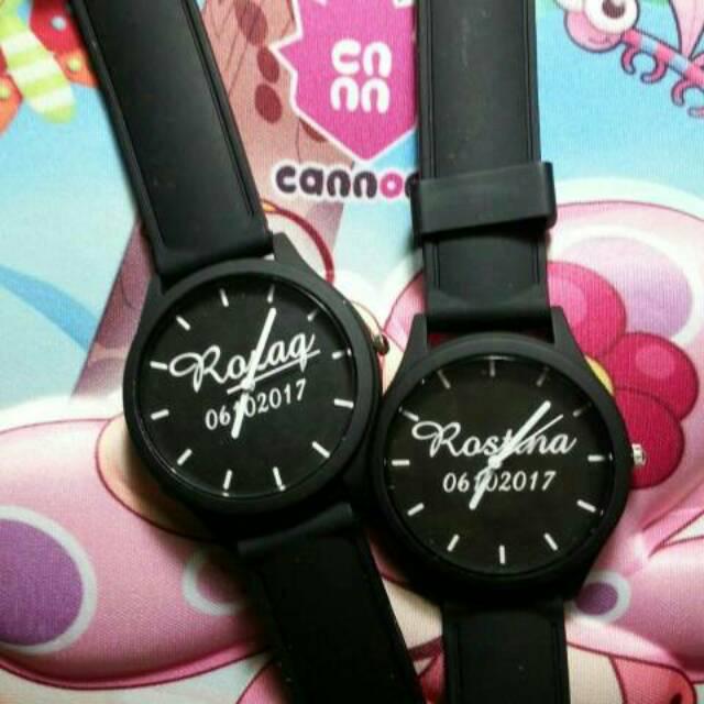 Jam Tangan Couple Custom nama foto  59104e5801