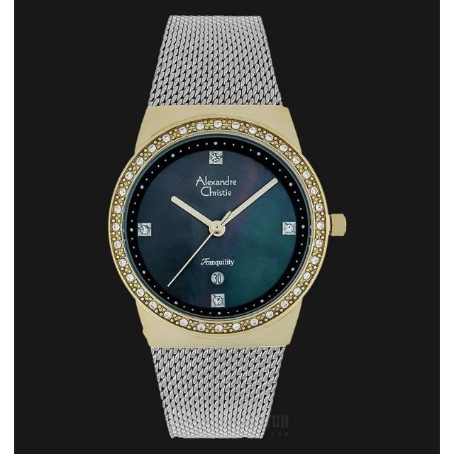 Jam Tangan Couple Alexandre Christie AC 8329 Pasir Silver Pria dan Wanita Original : Harga Satuan