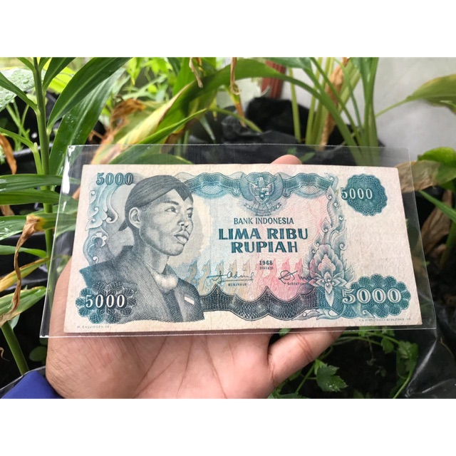 Uang Kuno 5000 Sudirman XF Seri X