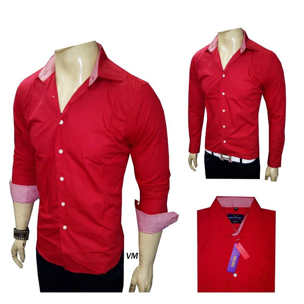 Cottonology Austin Red Shopee Indonesia Camden Merah S