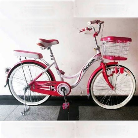 Sepeda Mini Phoenix Sp2499 Remaja 24 Inci Steel Kunci Setang Lampu Dinamo Low Step Frame City Bike Shopee Indonesia