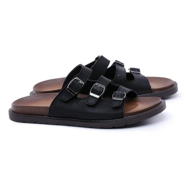 Sandal Bata Pria Kulit Hitam Sendal Casual Cowok G4c Sandal Distro