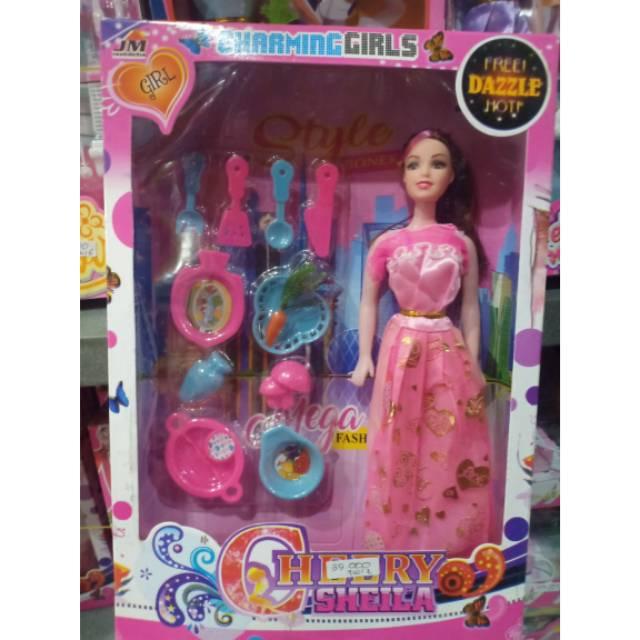 Boneka Barbie Charming Girl Set Alat Masak Mainan Anak Perempuan Murah Shopee Indonesia