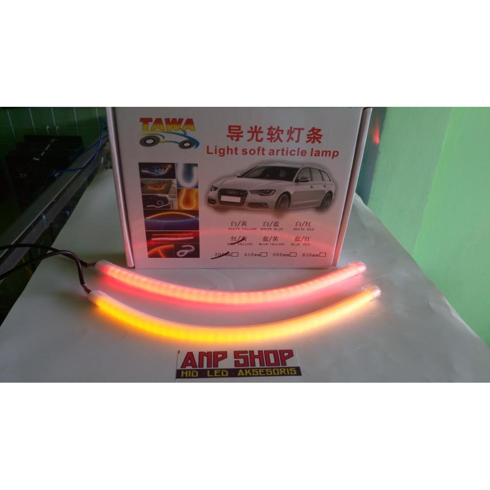 Led Drl Flexible Audi Style 60cm Alis Mobil 2 Warna Mode Fitur Spextrum 30cm Lampu Motor Warni Modul Neon Sein Sen Shopee