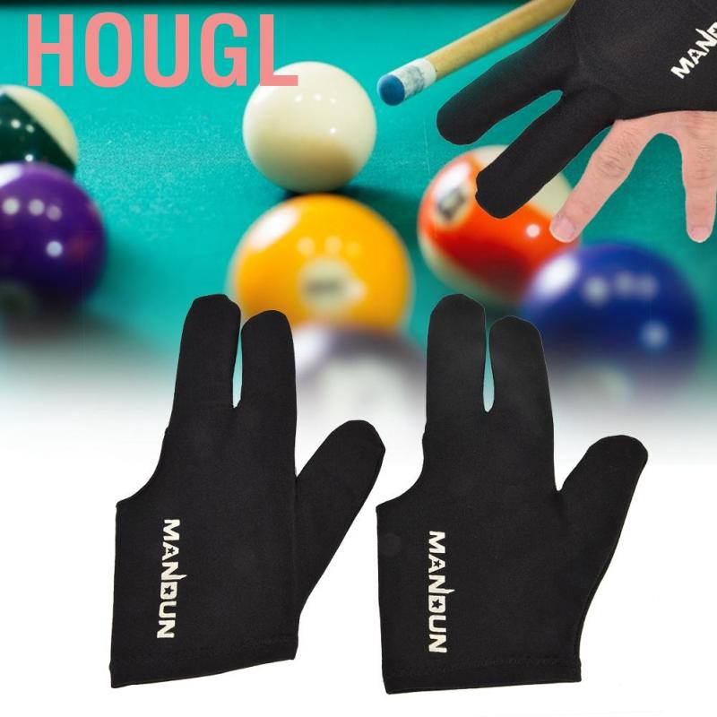 2pcs Elastic Pool Snooker Billiard Cue Glove Left Hand Three Finger