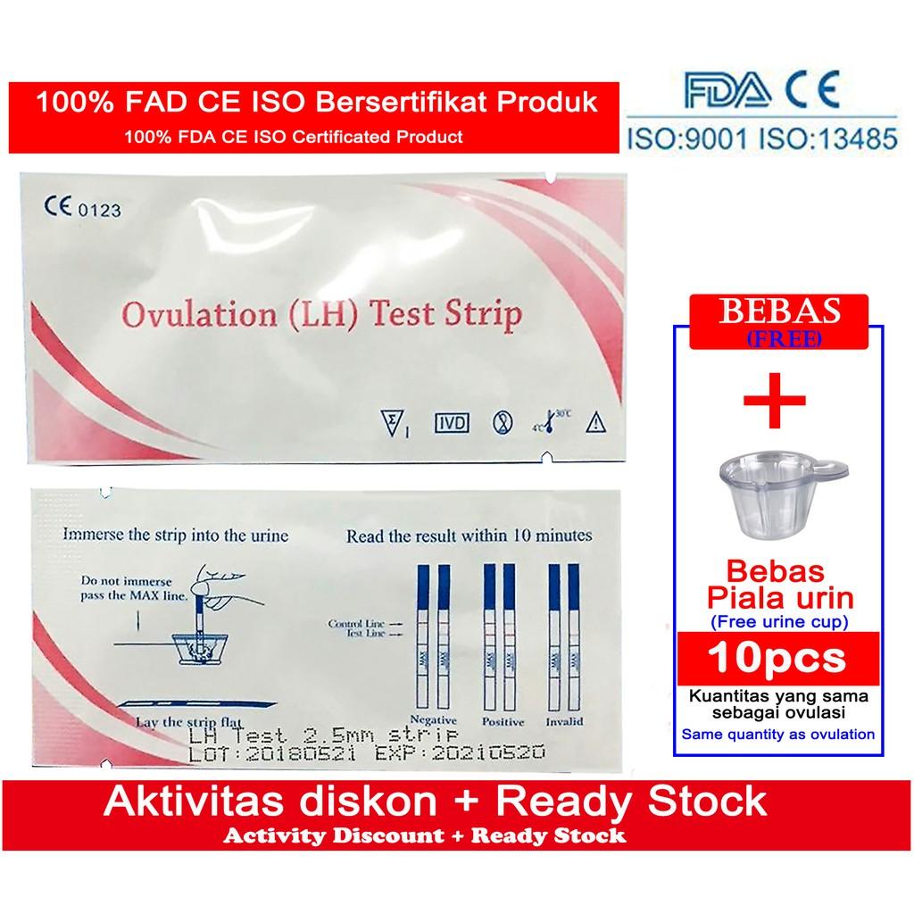 10pcs LH Ovulation Test Strip/Tespack Ovulasi Masa Subur ...