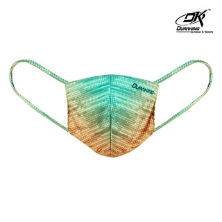 Masker Kain Anti Virus - MASKER RALLY STRIPES GREEN YELLOW (1 Pcs)