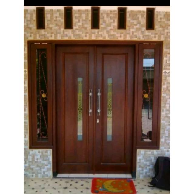 Kusen Pintu Utama Gandeng Jendela Berikut Daun Pintunya Shopee Indonesia