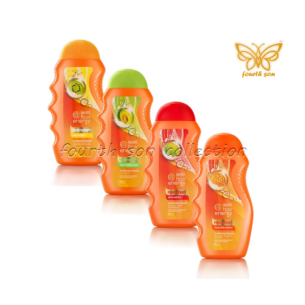 Promo Harga Makarizo Hair Energy Fiberteraphy Shampoo Kiwi 330 Ml Creambath Aloe Ampamp Melon Extract Sachet 30 Gr And 6 Sachets Mk3