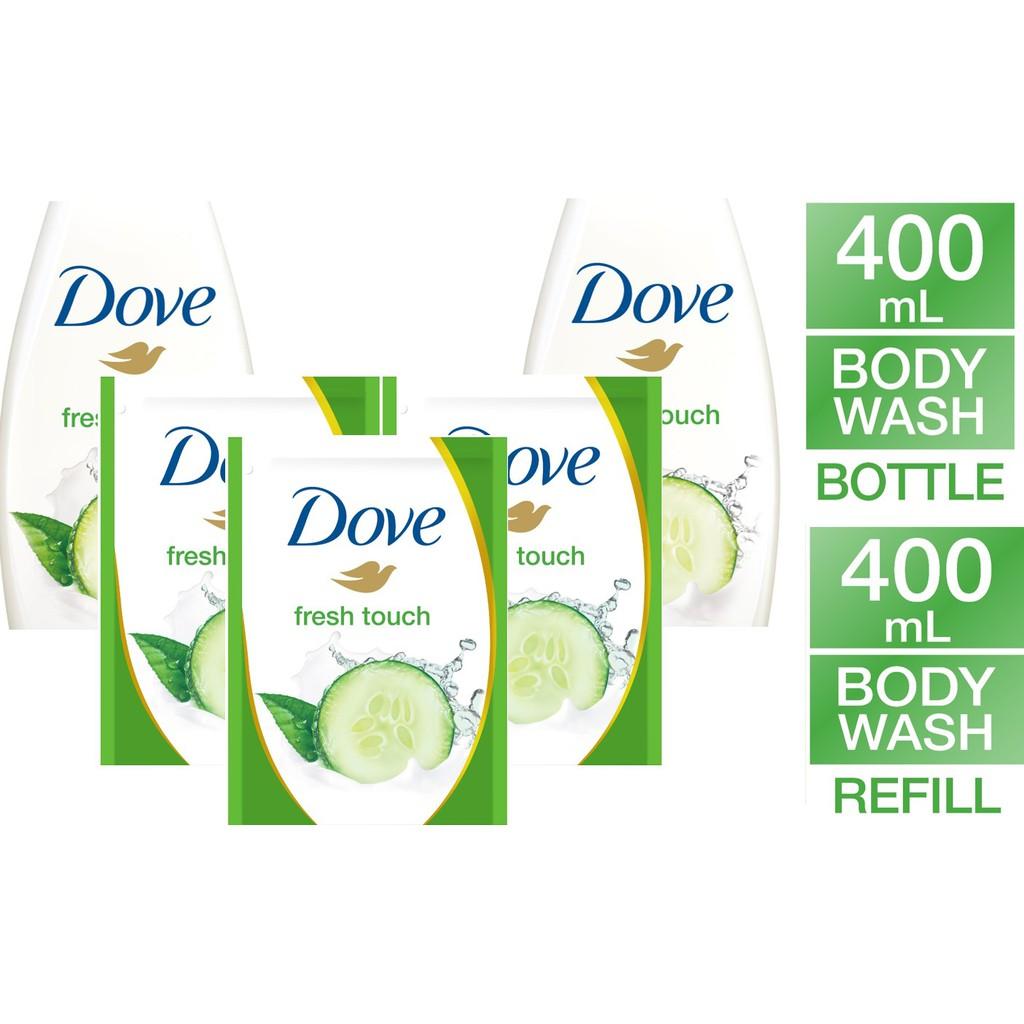 Dove Deeply Nourishing Body Wash Refill 400ml Shopee Indonesia Twin Pack Go Fresh Revive Pump 550ml