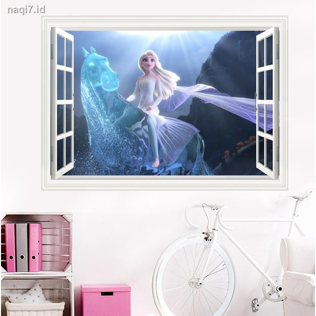 Stiker Dinding 2 Poster Desain Aisha Princess Anna Frozen Untuk Dekorasi Kamar Anak Perempuan Shopee Indonesia