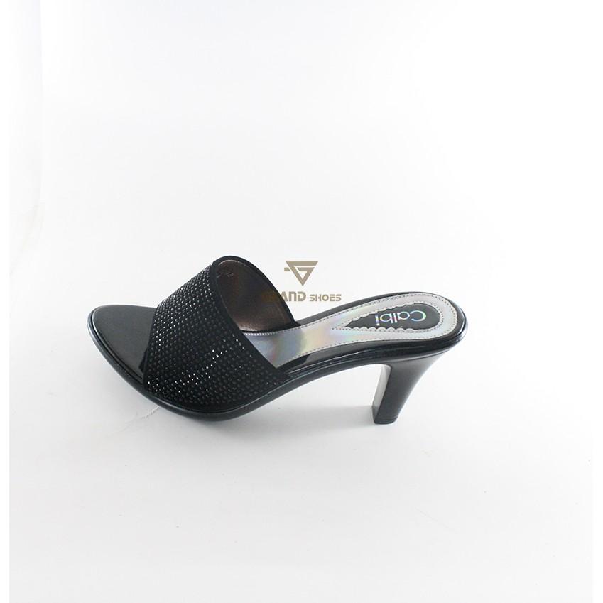 sandal wedges calbi wanita nux 1549 hitam cream original  f55f83293a