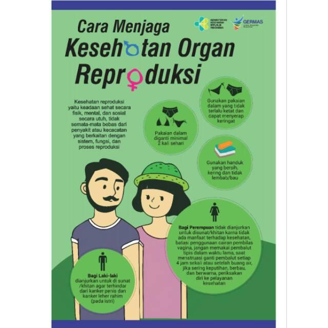 Poster Cara Menjaga Kesehatan Organ Reproduksi Shopee Indonesia