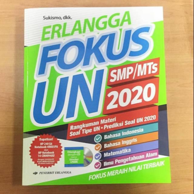 Erlangga Fokus Un Smp Mts 2020 4 Mapel Sesuai Kisi Kisi Dan Termurah Shopee Indonesia
