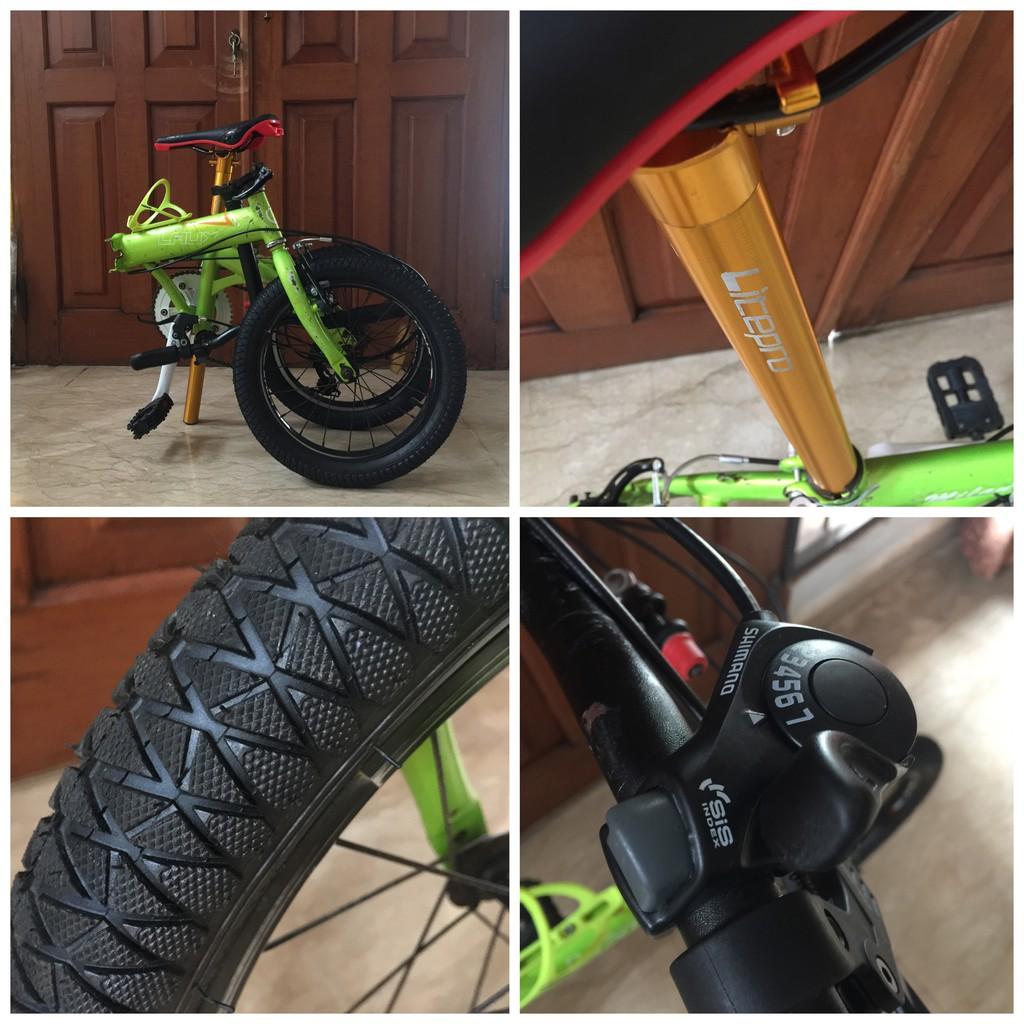 Sepeda Lipat Modif Upgrade Rakitan Bukan Pacific Element United Dahon Fnhon Shopee Indonesia