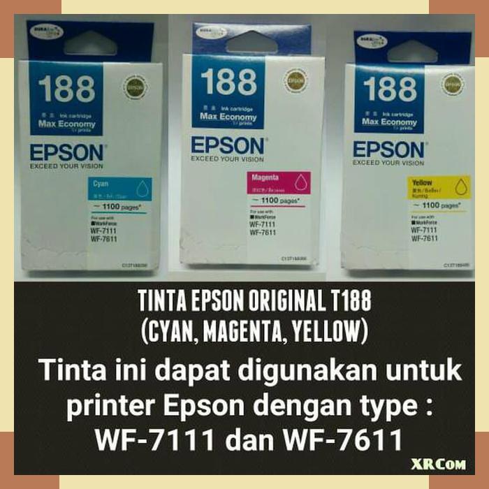 ... Magenta WF 7111 dan WF 7611. Source · Epson L565 Multifunction Printer. Source · TINTA EPSON ORIGINAL T188 / T 188