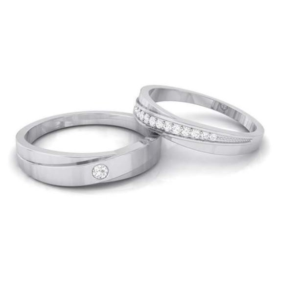 Cincin Kawin Tunangan Couple Perak Rhodium ...