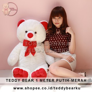 TEDDY BEAR JUMBO 1 METER CREAM-WHITE  0e14b60c34