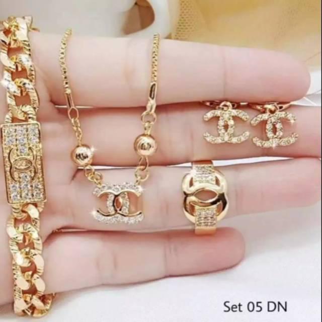 Perhiasan Xuping emas satu set | Shopee Indonesia