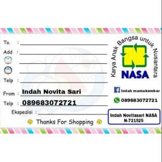 Label Pengiriman Nasa 100 Lembar Shopee Indonesia